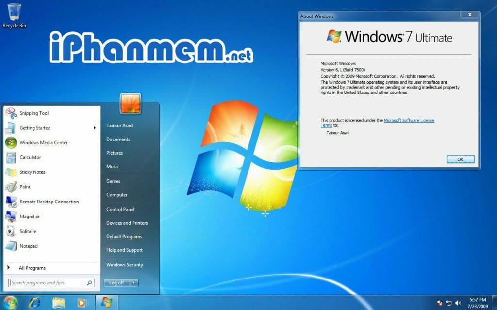 Download Windows 7 32/64 bit bản gốc từ Microsoft