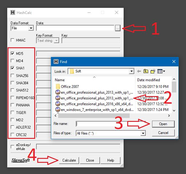 Hướng dẫn sử dụng phần mềm check mã MD5, SHA5 HashCalc