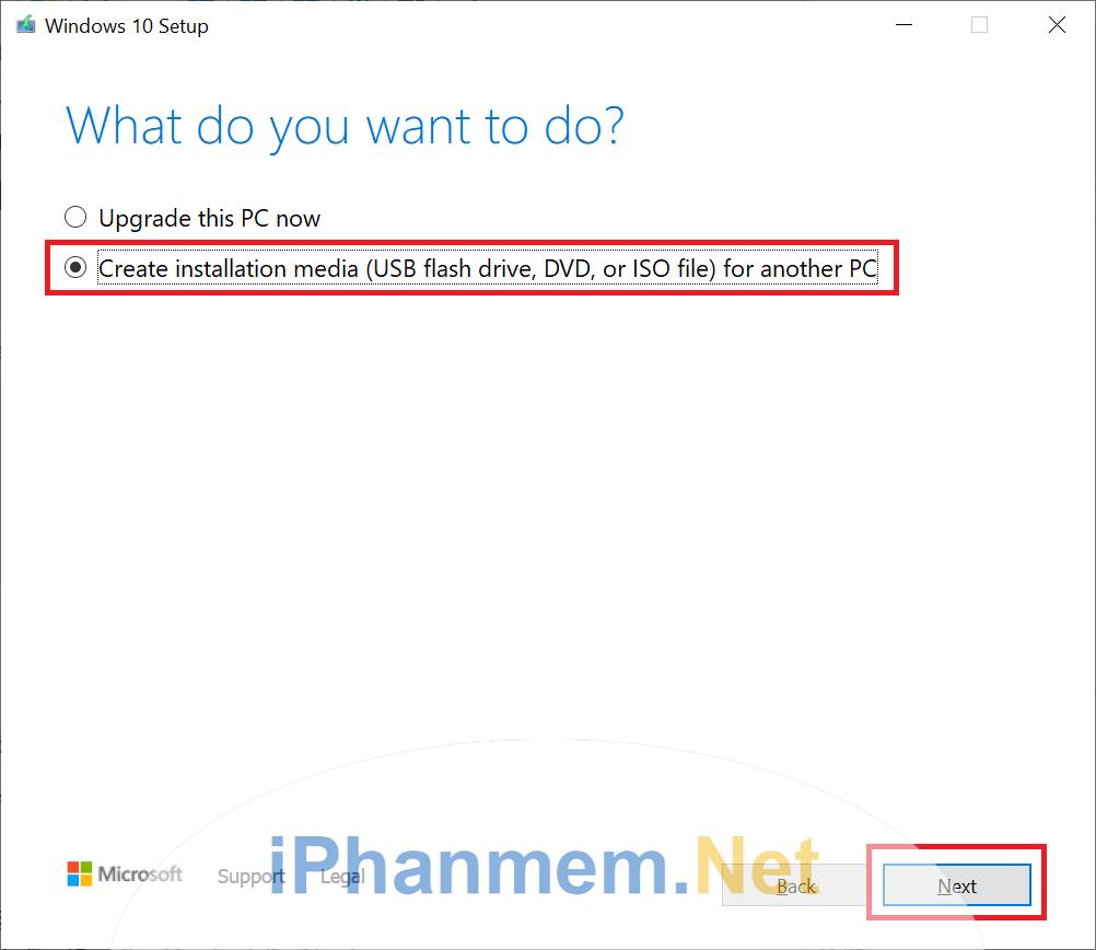 Chọn tùy chọn tải file ISO về để cài đặt cho các máy khác