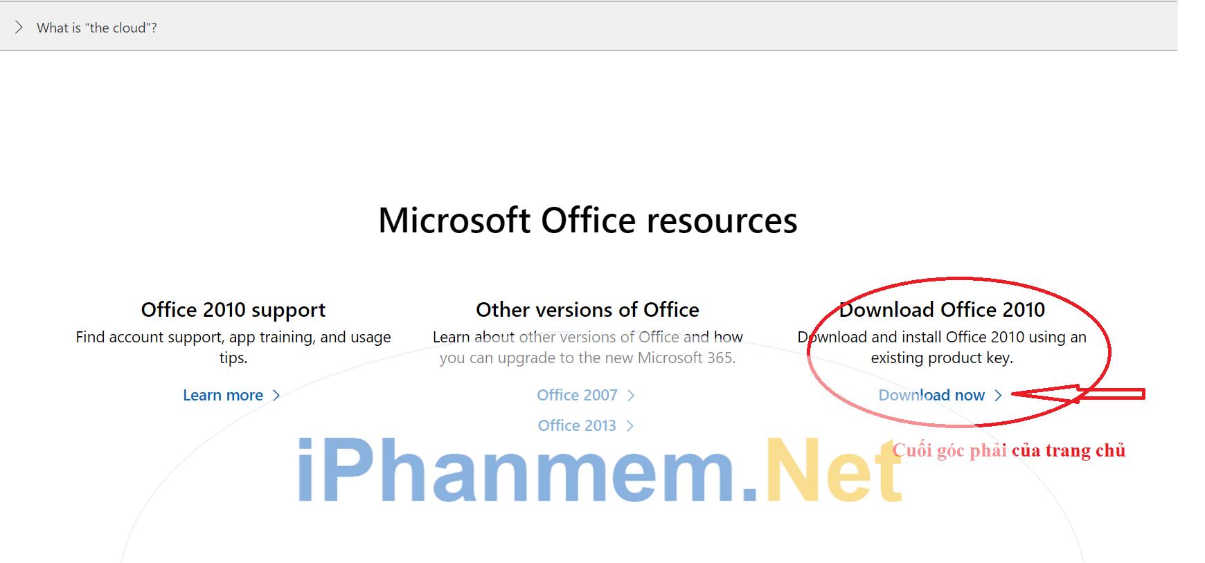 Tải về từ website chính thức của Microsoft