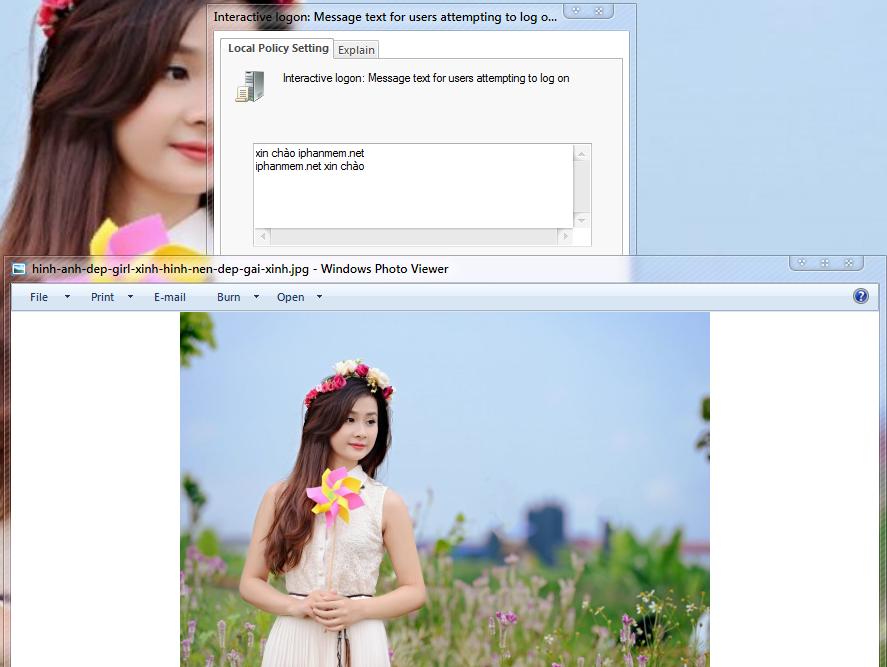 """Hướng Dẫn Các Bạn Cách Để Máy Tính """" Chào"""" Bạn Khi Bạn Đăng Nhập Trên Windows 7/8/10"""