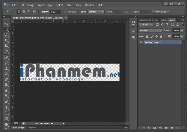 Giao diện chính của phần mềm chỉnh sửa ảnh Photoshop CS6