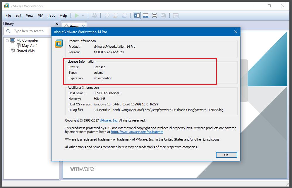 Hướng dẫn cài đặt máy ảo VMware Workstation pro 14 bằng hình ảnh - Hình 12