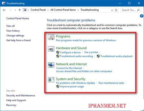 Tìm kiếm và vá lỗi trên Windows 10 bằng Troubleshoot hình 3