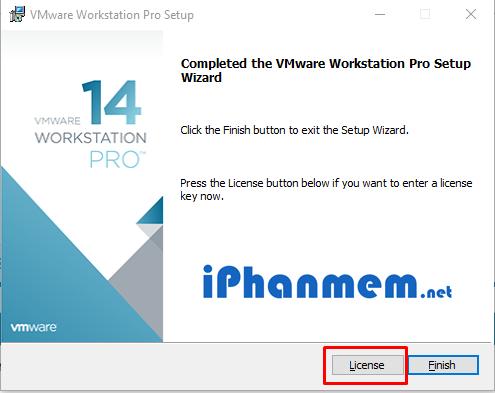 VMware yêu cầu nhập key để tiếp tục tiến trình