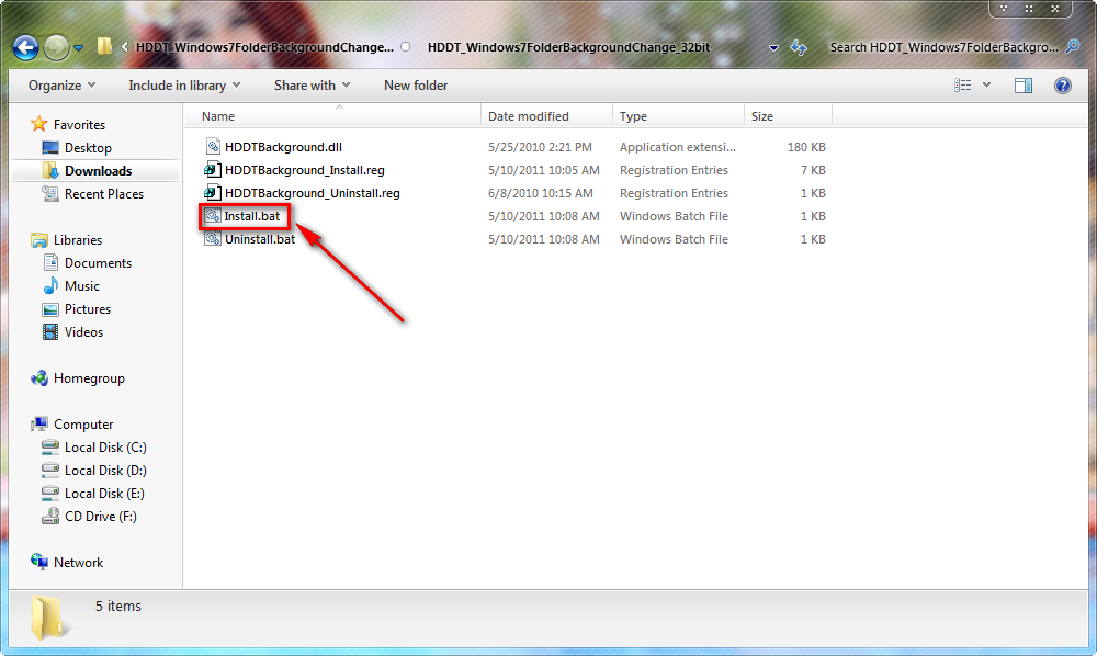 Hướng dẫn cách tạo hình nền cho Folder trên Windows 7/8/10 - 1