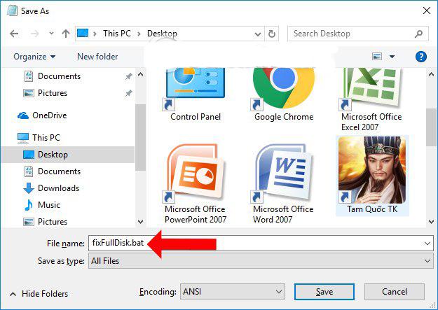 Hướng dẫn cách khắc phục Lỗi Full Disk 100% Trên Windows 10 bằng file .BAT