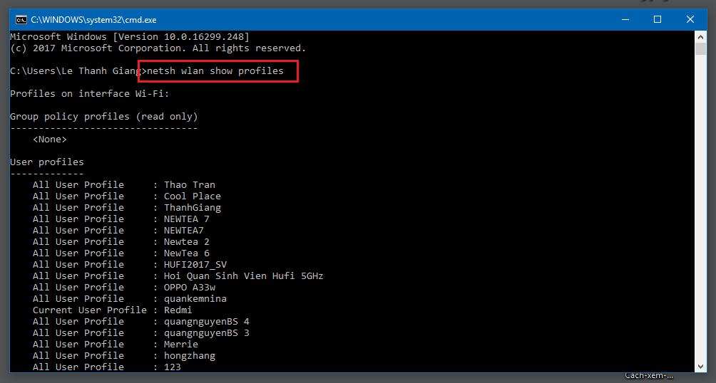 Cách xem Password wifi trên máy tính bằng CMD - 2