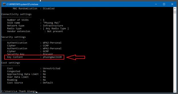 Cách xem Password wifi trên máy tính bằng CMD - 3