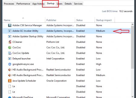 Cách tắt các chương trình khởi động cùng Windows - 1