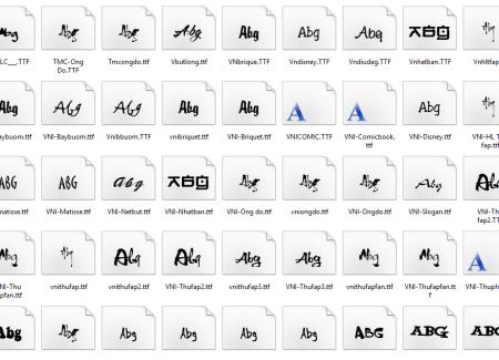 Download trọn bộ Font chữ đẹp Việt hóa - Font VNI, Thư pháp, Unicode