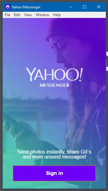 Giao diện chính của Yahoo! Messenger