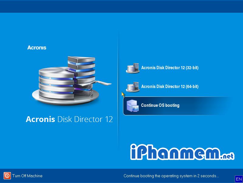 Giao diện chính của phần mềm Acronis Disk Director