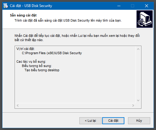 Hướng dẫn cài đặt USB Disk Security - 5