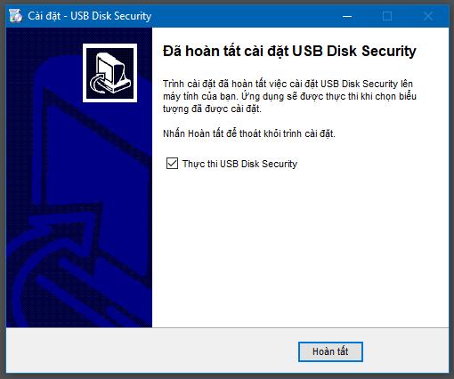 Hướng dẫn cài đặt USB Disk Security - 7