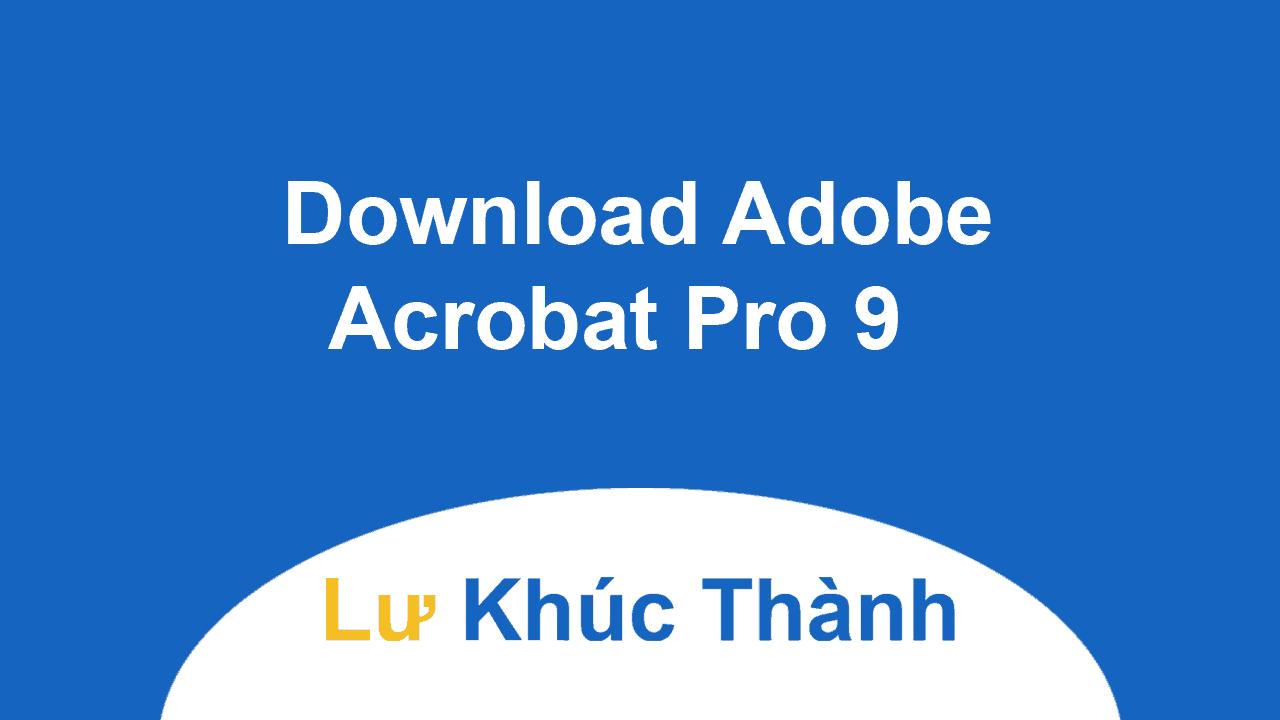 Download Adobe Acrobat Pro