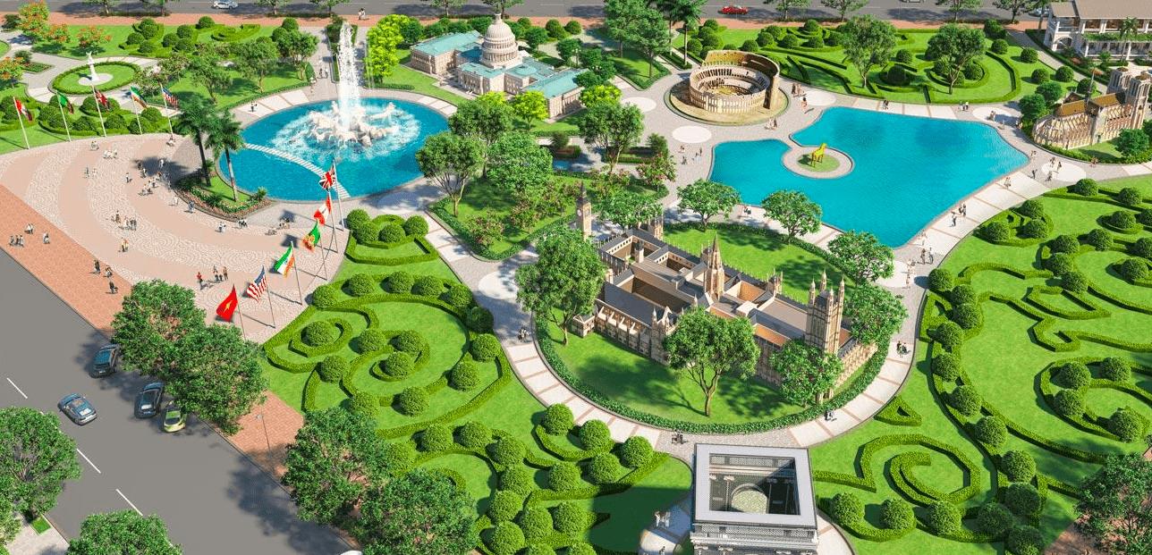 Một góc nhỏ công viên bên trong dự án