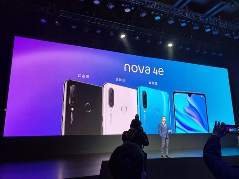 Thiết kế mặt sau Huawei Nova 4e
