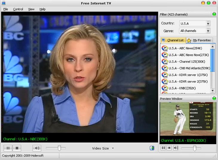 Phần mềm xem tivi Free Internet TV có số lượng kênh truyền hình lớn trên toàn thế giới