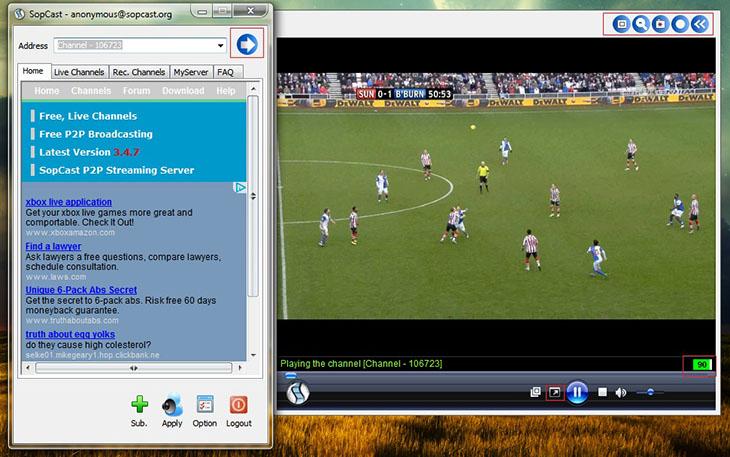 Phần mềm Sopcast là phần mềm được nhiều người sử dụng để xem tivi trên máy tính rất tiện lợi