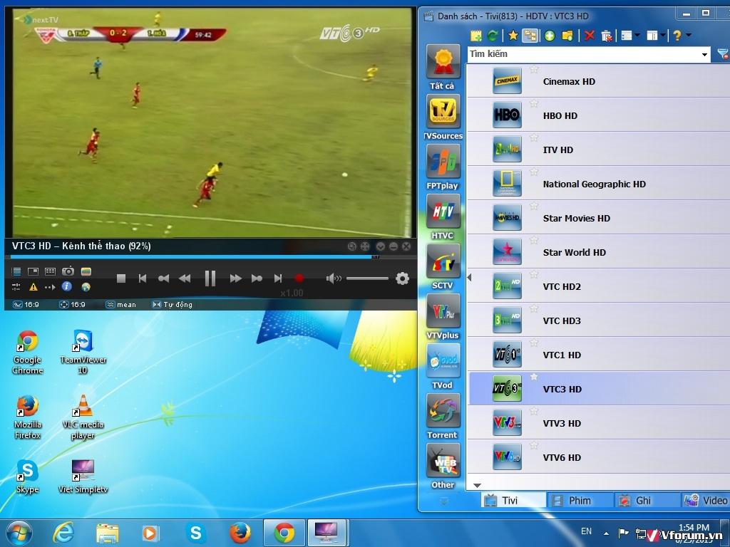 Phần mềm Viet-SimpleTV hỗ trợ giao diện tiếng Việt giúp thuận tiện cho người dùng trong việc sử dụng