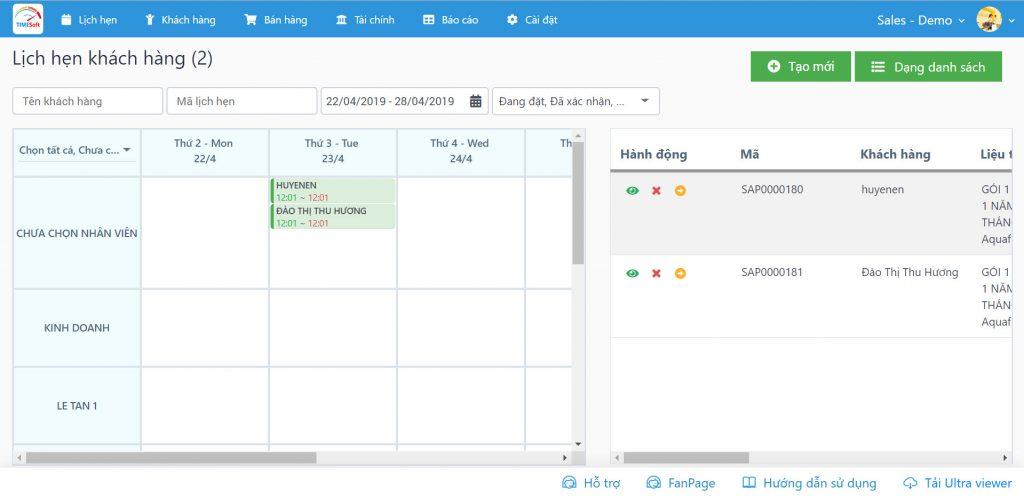 phần mềm quản lý spa TimeSPA