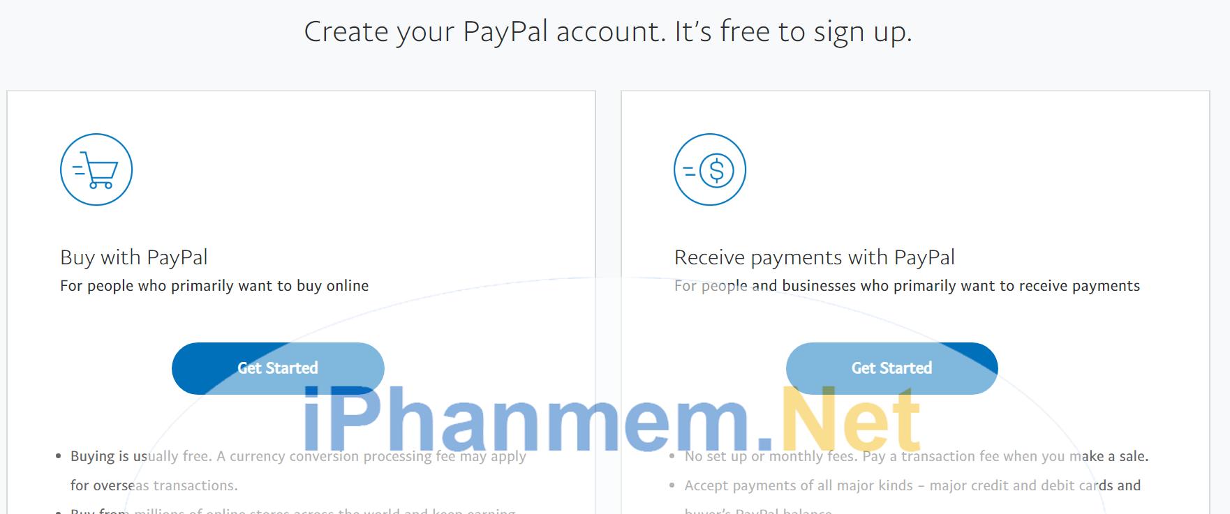 Chọn tài khoản phù hợp với nhu cầu đễ đăng ký
