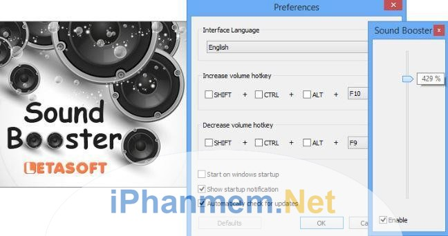 Phần mềm Sound Booster