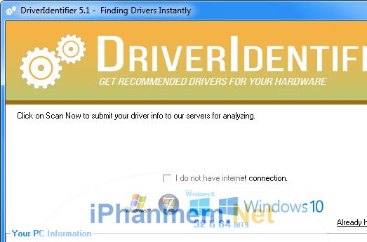 Phần mềm DriverIdentifier cập nhật driver miễn phí tốt nhất