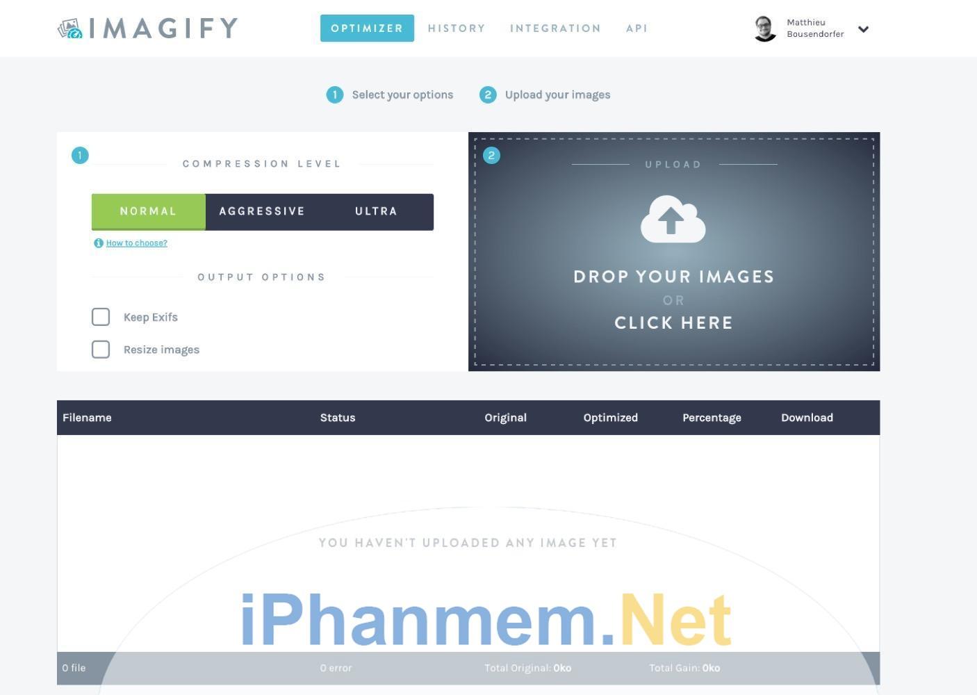 Imagify cho phép bạn nén nhiều ảnh cùng một lúc nhưng không ảnh hưởng đến chất lượng hình ảnh