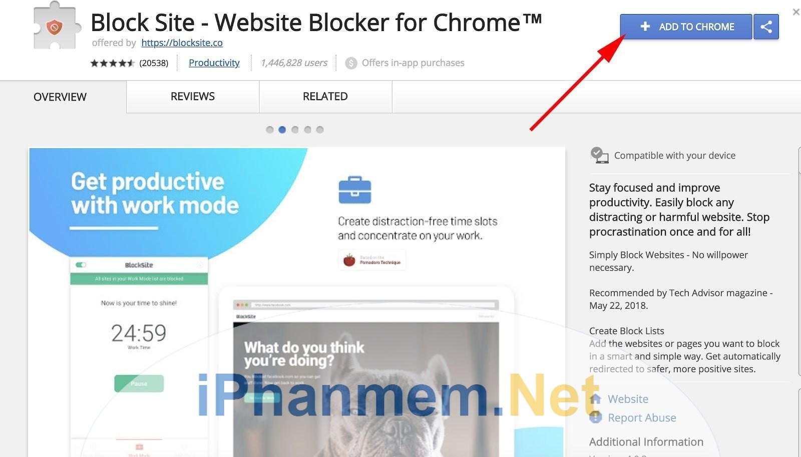 Sử dụng Blocksite để chặn website trên Google Chrome