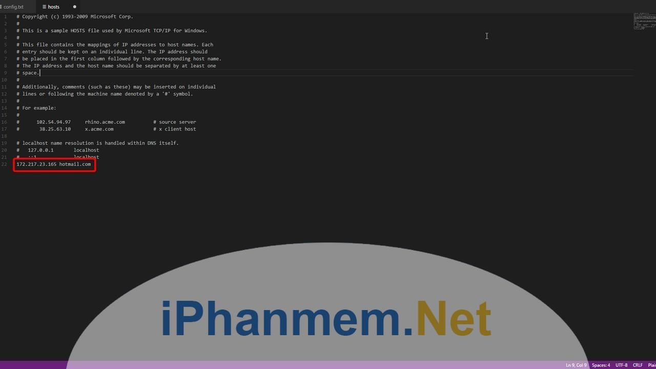 Truy cập vào tệp tin Host để chặn website trên Windows