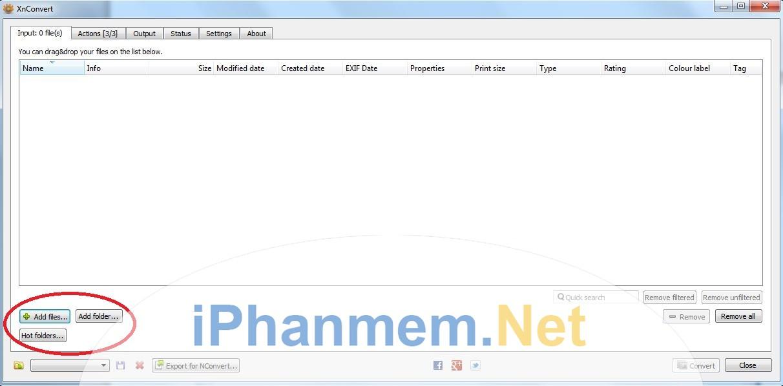 XnConver cho phép chọn từng file hoặc cả Folder