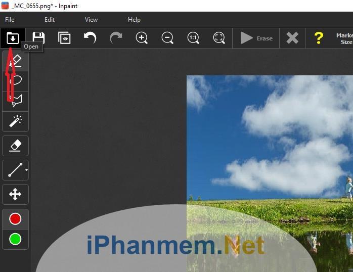 Bạn up các ảnh cần chỉnh sửa lên phần mềm