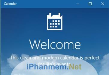 Giao diện của Windows Calendar