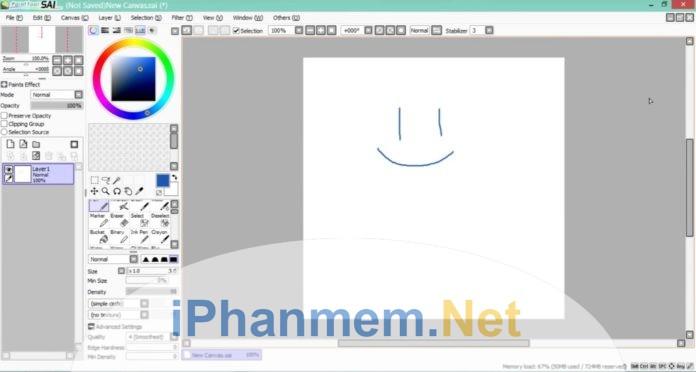 Hướng dẫn sử dụng phần mềm Paint tool SAI cho họa sỹ nghiệp dư
