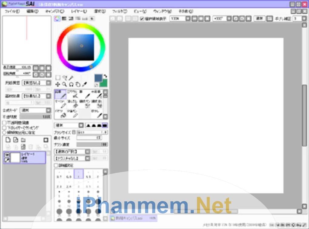 Tạo bức vẽ mới trong Paint tool Sai