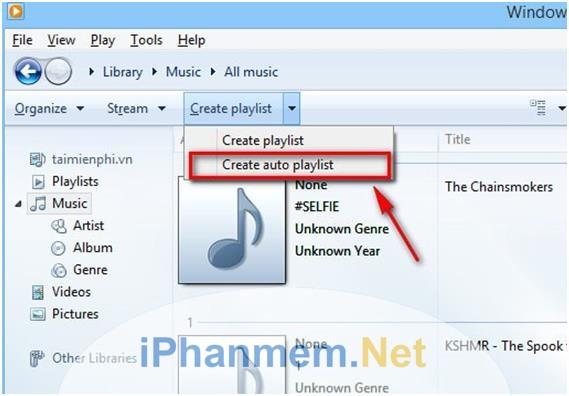 Tạo danh sách phát nhạc tự động