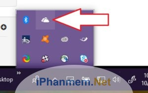 Mở OneDrive bên dưới góc phải màn hình
