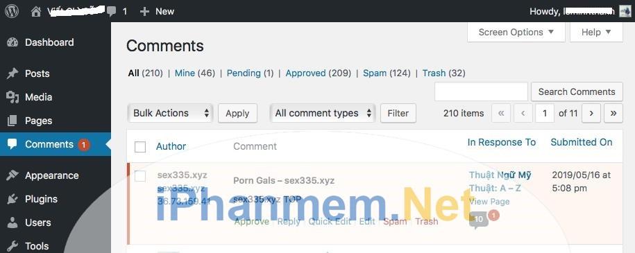 Spam comment là nỗi đau đầu quản trị website