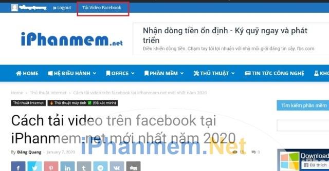 Link tải video Facebook trên iPhanmem