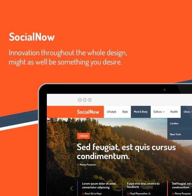 SocialNow - Themes dùng cho chủ đề mạng xã hội.