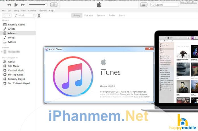 Cách cấp quyền và hủy quyền iTunes trong máy tính
