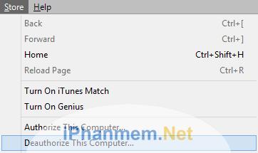 Hủy cấp phép iTunes
