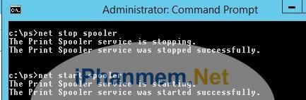 Câu lệnh cmd để tắt mở dịch vụ máy in