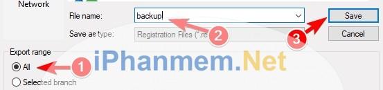 Backup dễ dàng Regedit để phục hồi khi có lỗi