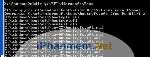 Copy file từ đĩa cài đặt Windows
