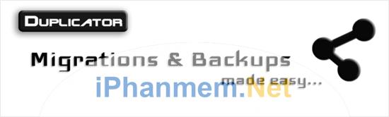 Duplicator công cụ chuyển website và backup miễn phí