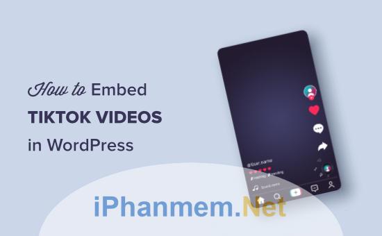 Làm thế nào để chèn video TikTok vào website Wordpress