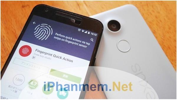 Cài phần mềm cảm biến vân tay trên smartphone Android